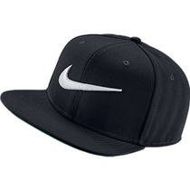 Bone Aba Reta Nike Pro Swoosh Snap Back Preto 100% Original