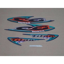 Kit Adesivos Honda Cg Titan 125 Es 2000 Azul