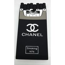 Funda Cigarrera J7 J 7 Samsung Negro Galaxy Cigarros Silico