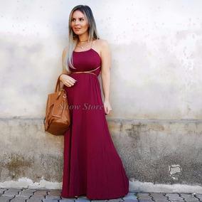 Roupas Femininas Vestido Longo Estampado Florido Casual 2703