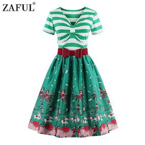 Zaful Moda Vintage De La Impresi¿n De Estilo Retro De Las M