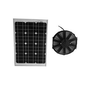 Ventilador Solar De Techo Pared Bodega 35m3 Alta Eficiencia