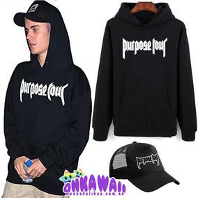 Combo Purpose Tour Estilo Justin Bieber Buzo Canguro + Gorra
