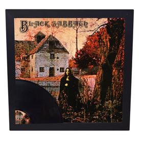 Quadro Com Disco De Vinil Lp Da Black Sabbath