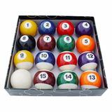 Jogo Bolas De Bilhar Numeradas Snooker Sinuca 52mm 16 Peças