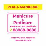 Placa Manicure Pedicure