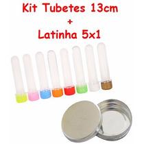 100 Latinha De Metal + 100 Tubete 13cm + 100 Caixinha 5x5