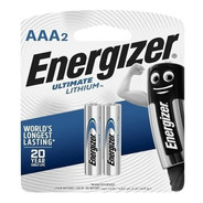 2 Pilas Aaa Energizer Ultimate Litio 1.5v Alto Rendimiento