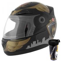 Capacete Moto Pro Tork Evolution 3g Nos City Preto