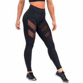 Calza Leggings Fitness Elastizada Transparecia Supplex Lycra