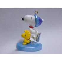 Mini Figura De Snoopy & Woodstock Adorno Navideño Nuevo 2001