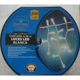 Cascada De 200 Luces Led Blancas, Nuevas, Cable Grueso