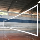 Rede De Voleibol Oficial 4 Faixas -seda