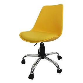 Cadeira Pelegrin Pel-032a Em Abs Com Design Eames Dkr Office