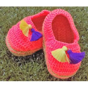 Zapatos De Crochet Para Bebes En Variedad De Colores