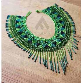 Lote 12 Collares Artesanales Mexicanos Coloridos De Chaquira