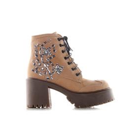 Sarkany Lune - Zapato Mujer De Cuero Con Bordado De Piedras