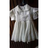 Vestido Blanco Para Fiesta De Niña O Bebe. Talla 1 (1-3 A)