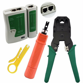 Kit De Redes 1 Crimpadora +1 Tester +1 Ponchadora De Impacto