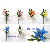 Kit 6 Flores Artificiais Lírio Pronto Entrega-qx Flores