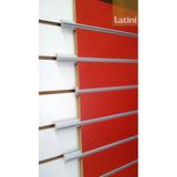 Perfil Moldura Aluminio Para Placa Ranurada Largo 260cm