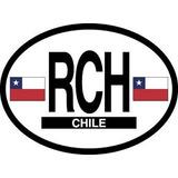 Chile Calcomanía Oval Para Automóvil, Camión | Accesorio