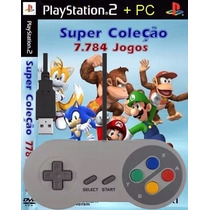 Controle Snes Usb Pc + Emulador Super Nintendo +7784 Patches