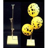 Kit 15 Suportes De Balões Mesa De Convidados 3 Hastes