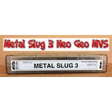 Consola * Cartucho Metal Slug 3 Neo Geo Mvs Jamma *