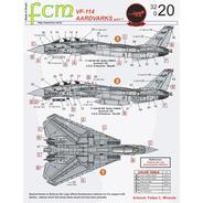 Decalque Fcm 32020 F-14 Tomcat Aardvarks Part1 1/32 Decal