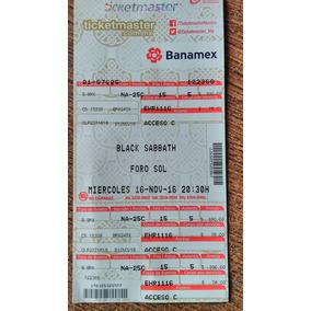 Boleto Black Sabbath The End Para Coleccionistas!