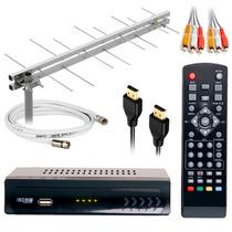 Kit Antena + Conversor + Cabo 15m + Instalado Sp/grande Sp