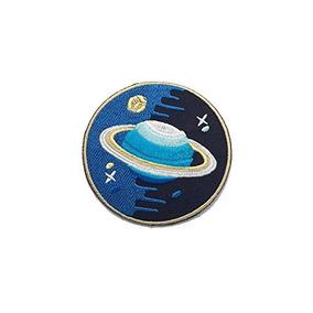 new product 4db1f b633d Saturn Espacio Galaxy Universo Diy Aplique Bordado Coser Hie