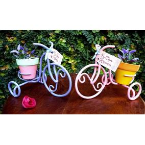 Souvenir Bicicleta Mini Hecha En Hierro Con Maceta Nro 5