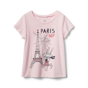 Gap Remera Paris Nena Talle 4t