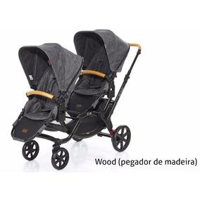 Carrinho De Gemeos Zoom Wood Da Abc Design +bebes Conforto