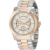 Relógio Feminino Michael Kors Prata Rose Mk8176 Novo