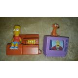 Set 3 Figuras Los Simpsons Burguer King Colección