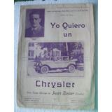 Partitura Tango-milonga:yo Quiero Un Chrysler-firpito-auto
