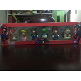 Set D 6 Muñecos Super Mario Bros Luigi Yoshi Juguetes Niño