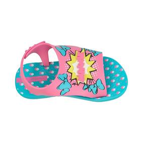 Sandalia Infantil Ipanema Disney Azul/rosa 26111 Love Menina
