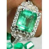 Esmeralda De 3 Cts Montada En Plata Con Cristal Zaroskii