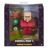 Minecraft Figura Aldeano Comerciante Mide 15cm - Mattel