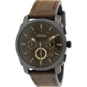 Reloj Analógico Fossil Machine Fs4656 P/hombre Cuarzo Cuero
