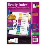 Avery Ready Index Table Of Contents Dividers 12 Tab Set
