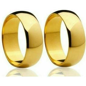 Par De Alianças Ouro 18k 8mm 12 Gramas Casamento Noivado