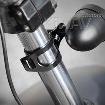 Suporte Pisca Moto Bobber Cafe Racer Universal Cor Preta