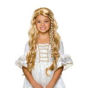Glamorosa Princesa Rubia Peluca De Vestuario De Rubíes Niño