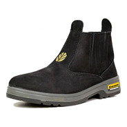 Botina Unissex New Holland Couro Nobuck Original - Preto