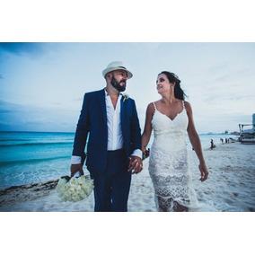 Vestido De Noiva Yolan Cris Ideal P/ Casamento Praia & Campo